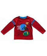 Toddler Boys Size 3T Red Graphic Print Football Top - $1.45