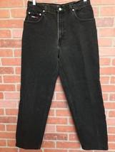 Vintage 90s Tommy Hilfiger Mens Jeans 32 X 29 Black Big Flag (3F10) - $24.74