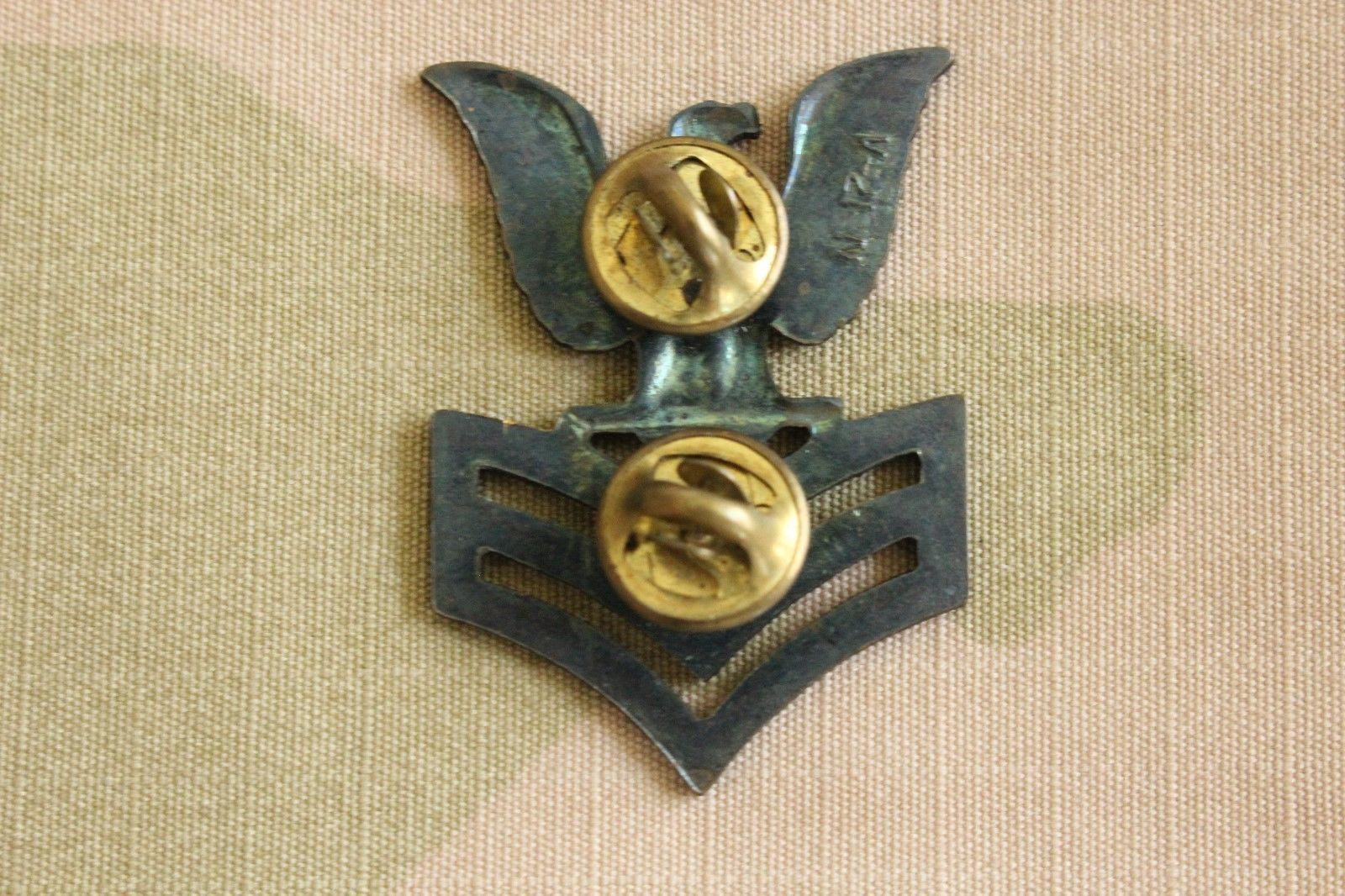 USN US NAVY ALL RATES E-6 PO1 PETTY OFFICER 1ST CL. 8 POINT COVER BADGE DEVICE B