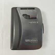 Sony Walkman WM-FX321 Portable Cassette Player AM FM RADIO Belt Clip TESTED - $29.02