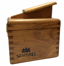 Stafford Vintage Dove Tail Shoe Shine Wood Box 7x9.5x11.5 Shoe Care or P... - $59.40