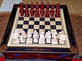 Vintage High Quality Hand-Crafted Chess Set - China Medieval Theme 17 x ... - $65.41