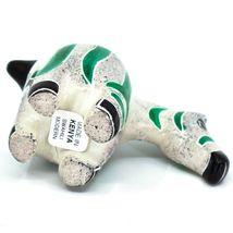 Crafts Caravan Hand Carved Soapstone Chubby White & Green Zebra Figurine Kenya image 5
