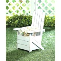 White Adirondack Chair Planter - $33.00