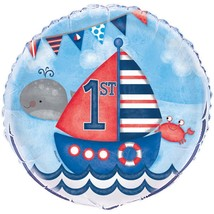 "Nautical 1st Birthday 1 Ct 18"" Foil Balloon - $3.13"