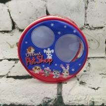 Littlest Pet Shop Collectible Storage Bag Case Small Round Blue Pink - $15.84