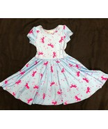 NEW dot dot smile Girls Cup Twirl Pink & Blue Unicorn Summer dress girls - $18.39+