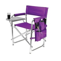 Outdoor Folding Chair Purple Tone Sports Portable Patio Chair with Armre... - £46.86 GBP