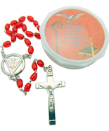 RED DOVE ROSARY AND CASE FOR HIM OR HER - $20.03