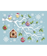 Christmas Branch cross stitch chart Shannon Christine Designs  - $9.00