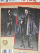 Gothic Vampire Capes Costume sz L-XL Simplicity 2529 Sewing Pattern - $9.40