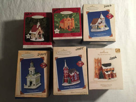 Hallmark Church Ornament Lot of 6 Magic Collection 99 2000 03 04 05 06 L... - $60.38