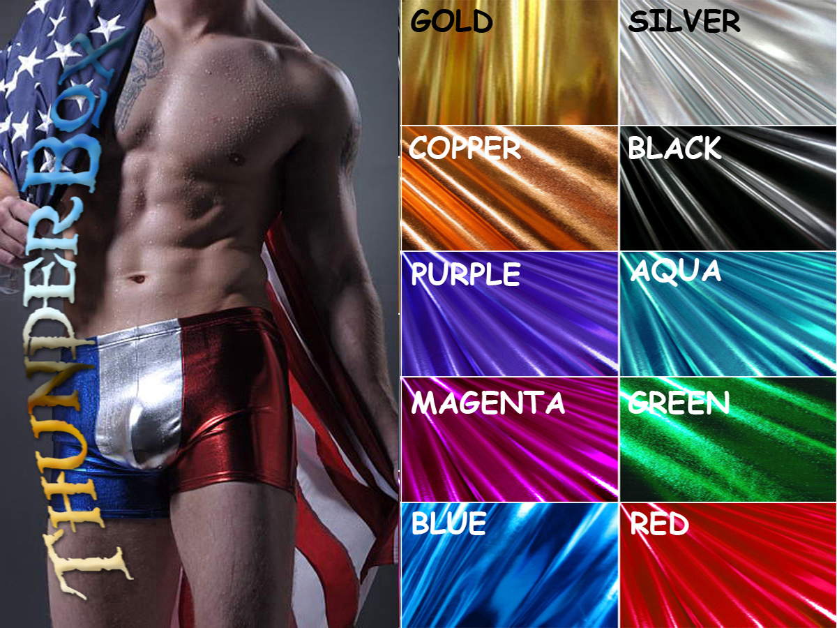 Primary image for Thunderbox Choose Colors, Size Harlequin Metal Spandex Pouch Shorts! S, M, L, XL