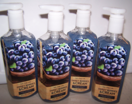 4 Bath & Body Works Sweet Berries & Cream Deep Cleansing Hand Soap 8 oz - $27.99
