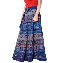 Free Size Wrap Around Cotton Boho Hippie Maxi Skirt Indian Diwali Tradit... - $32.71