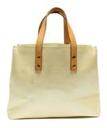 Auth Louis Vuitton Vernis Monogram Handbag Ivory Patent Inner Pockets LV... - $221.76