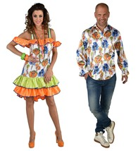 Tropical Salsa / Hawaiian Shirt - Maimi /  Carribean  - $31.59