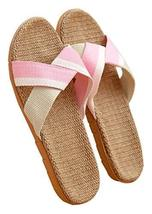 Summer Sandals And Slippers Couple Home Skid Slippers Flax Slippers Female M
