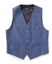 Daniel Cremieux Men's Edward Glen Plaid Suit Dress Vest, Blue, Sizes S/M... - €25,98 EUR