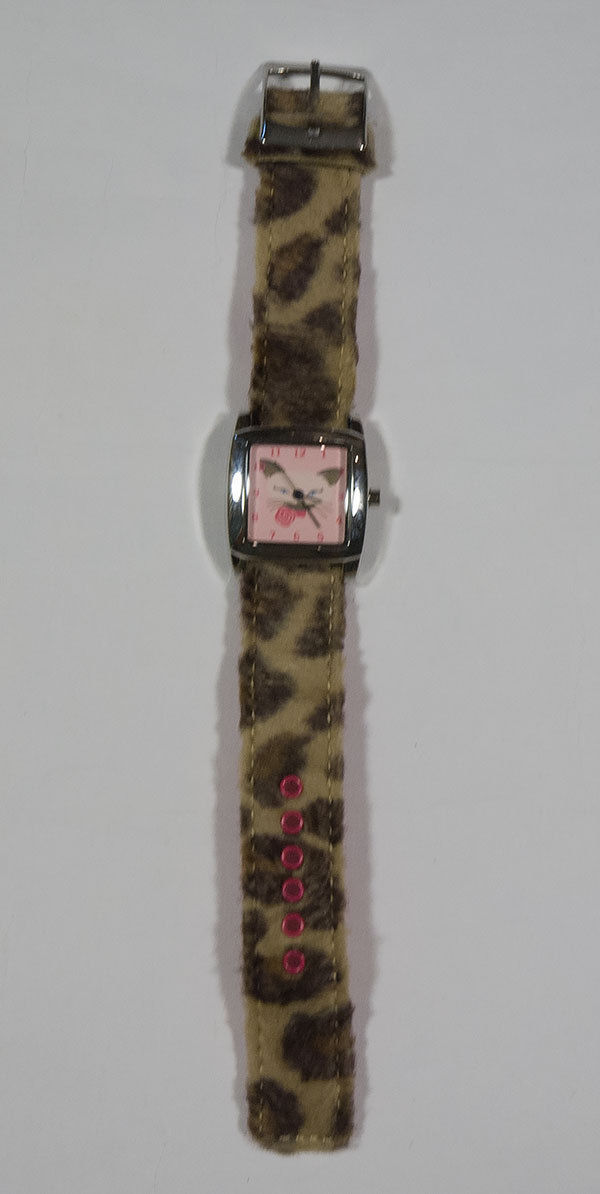 Primary image for GYMBOREE GIRLS WATCH TEACHERS PET PINK & LEOPARD SIAMESE KITTY CAT