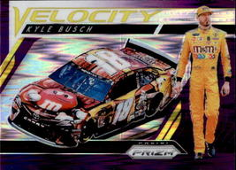Kyle Busch 2019 Panini Prizm Purple Flash Parallel Velocity Card #76 - $2.00