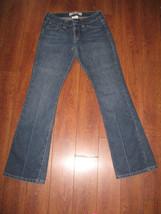 "Sz 2 Long GAP Curvy Flare Womens Girls Denim Straight Pants Waist 14.5"" L 43"" - $15.99"
