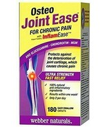 2 PACK Webber Naturals Osteo Joint Ease 180 Caplets 360 Total -CANADA -F... - $58.66