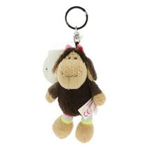 NICI Sheep Jolly Coco Brown Stuffed Animal Beanbag Key Chain 4 inches 10 cm - $11.00
