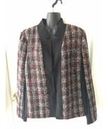 Lane Bryant Red and Black Plaid Holiday Blazer Jacket Sz 18 NWT NEW - $129.99