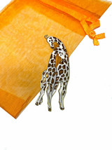 "2"" Tall Giraffes Enameled Brooch Pin Safety Catch Clasp Animal Lover Jew... - $17.10"