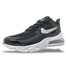 Womens Nike Air Max 270 React Running/Lifestyle Shoes Black/Silver CT342... - $119.99