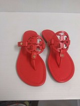 Tory Burch Femme Pantoufles Miller Veg Nappa Coquelicot Corail Taille 7.5 US - $204.58