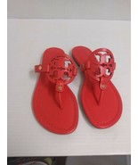 Tory Burch Femme Pantoufles Miller Veg Nappa Coquelicot Corail Taille 7.... - $204.58