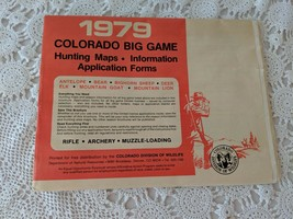 1979 Colorado Bog game Hunting Maps Information Application Forms Vintage - $14.54
