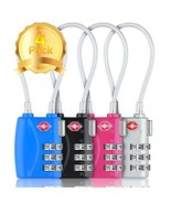 HT Luggage Locks Combination Password Locks Padlocks TSA Approved 3-Digi... - $14.76