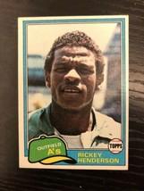 1981 TOPPS RICKEY HENDERSON #261 2nd Year Baseball Card Oakland A's - $4.49