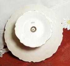 "VINTAGE LEFTON Della Robbia 8-1/2"" Pedestal Plate Hand Painted Multicolor 1950's image 4"