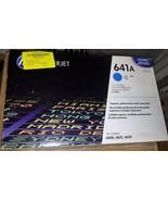 New Sealed Genuine OEM HP 641A C9721A Cyan toner cartridge; Exp:1-19-15;... - $56.09
