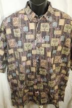 Hilo Hattie short sleeve Hawaiian shirt XL brown floral - $18.69