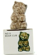 No.11 Bear Cub Miniature Animal Porcelain Figurine Picture Box Whimsies by Wade