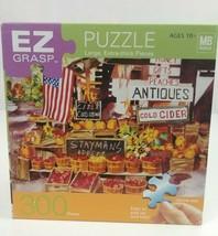 Milton Bradley EZ Grasp Antiques& Fruit Stand 300 Pieces Puzzle Complete - $7.69