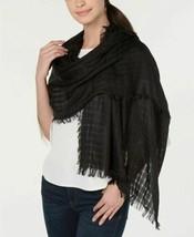 DKNY Donna Karan Lightweight Open Weave Scarf Wrap Shawl Hijab, Black - $17.82
