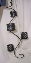 PartyLite Hanging Spiral Tealight Holder Powder Coated Metal P8511 - $13.81