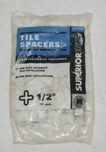 Superiorbilt 81P12B Tile Spacers One Half Inch 35 Count Cross Shape image 1