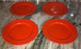 """Royal Norfolk Royal Orange7 1/2""""Stoneware Dinnerware Saucer Plates Set O... - $29.58"""