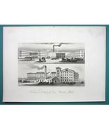 PHILADELPHIA Thomas Dolan & Co's Woolen Mills - 1876 Engraving Print - $21.42