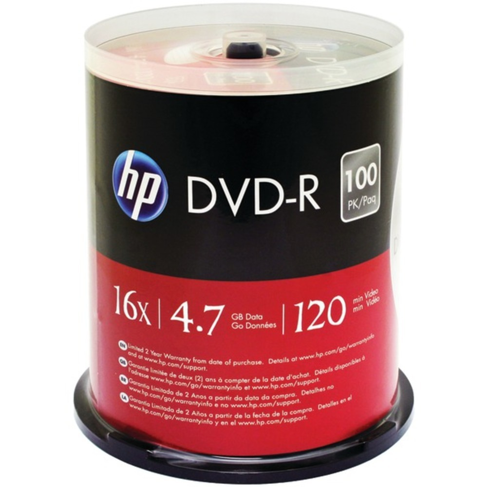 Primary image for HP DM16100CB 4.7GB DVD-Rs, 100-ct Spindle
