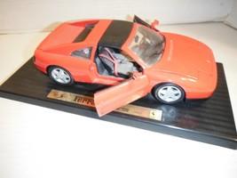 RED MAISTO FERRARI 348 TS 1990  1:18 scale metal & plastic doors/trunk o... - $18.51