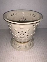 """Lenox Cream With Gold Trim Footed Votive Candle Holder 4 1/2"""" - $15.00"""