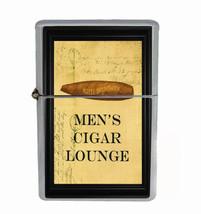 Men's Cigar Lounge Rs1 Flip Top Oil Lighter Wind Resistant With Case - $13.95
